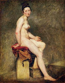 Seated Nude, Mademoiselle Rose von Ferdinand Victor Eugene Delacroix