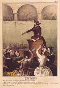 Women's Club, c.1848 by French School