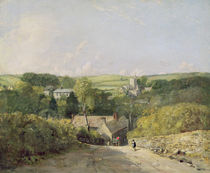 A View of Osmington Village with the Church and Vicarage by John Constable