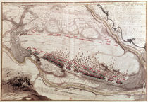 Plan of the Order of the Battle of Coutras on 8th October 1587 von French School