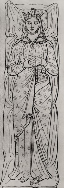 The Recumbant Eleanor of Aquitaine by French School
