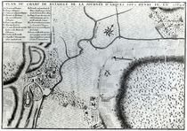 Field Plan for the Battle of Arques von French School