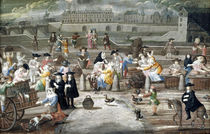Bread and Poultry Market on Quai des Grands Augustins von French School