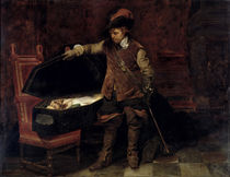 Oliver Cromwell Opening the Coffin of Charles I 1831 by Hippolyte Delaroche