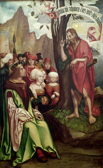 St. John the Baptist Preaching Before Herod by Hans Fries