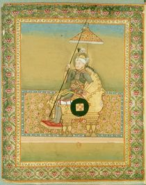 Tamerlane from an album of portraits of Moghul emperors by Indian School