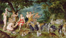 Diana and her Nymphs Preparing to Leave for the Hunt von Jan Brueghel the Elder