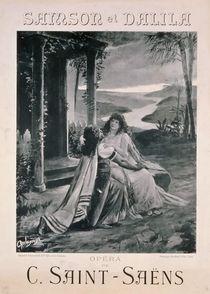 Poster advertising 'Samson and Dalila' von Georges Rochegrosse