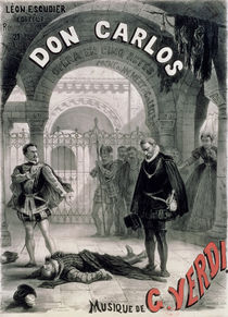 Poster advertising 'Don Carlos' von Alphonse Marie de Neuville