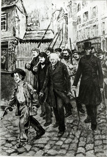 Gavroche Leading a Demonstration by Pierre Georges Jeanniot