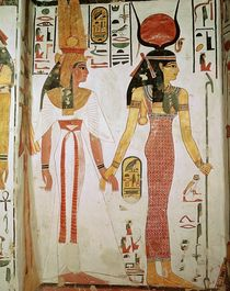 Isis and Nefertari, from the Tomb of Nefertari by Egyptian 19th Dynasty