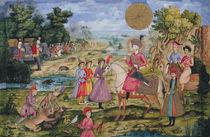 Royal Hunt, from Isfahan, Iran von Islamic School