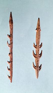 Two Harpoons, Upper Paleolithic Period von Prehistoric