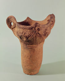 Jomon vase from the Kanto province by Japanese School