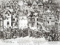 The Prince of Orange calming the Calvinists von Flemish School