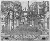 Set design for a tragic scene von Sebastiano Serlio