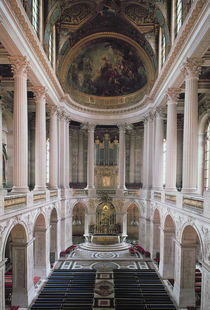 Interior view of the chapel by Robert de & Mansart, Jules Cotte