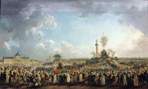 The Festival of the Supreme Being at the Champ de Mars von Pierre Antoine Demachy
