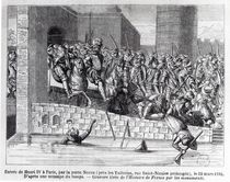 Entrance of Henri IV into Paris by French School