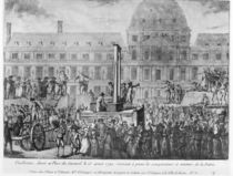 The First Execution by Guillotine von French School