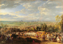 The Entry of Louis XIV and Marie-Therese of Austria in to Arras von Adam Frans Van der Meulen