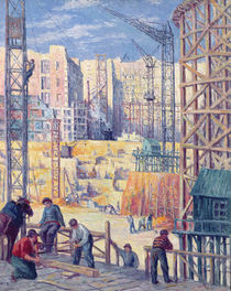 Building Site in Paris, quai de Passy von Maximilien Luce