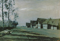 Village by Moonlight, 1897 by Isaak Ilyich Levitan