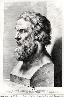 Bust of Plato engraved by Lucas Emil Vorsterman by Peter Paul Rubens