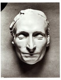 Death mask of Blaise Pascal 1662 by French School
