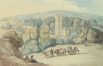 The Church and Village of St. Cue by Thomas Rowlandson