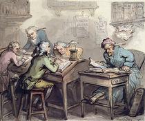 A Merchant's Office, 1789 von Thomas Rowlandson
