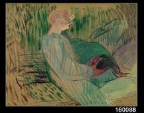 The Divan, Rolande, 1894 by Henri de Toulouse-Lautrec