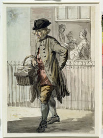 London Cries: A Muffin Man by Paul Sandby