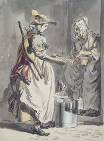 London Cries: A Milkmaid, c.1759 by Paul Sandby