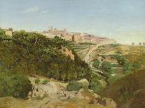 Volterra, 1834 von Jean Baptiste Camille Corot