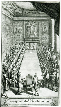 Reception of an Member of the French Academy by F. Delamonce