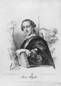 Portrait of Horace Walpole Count of Orford by English School