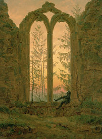 Ruins of the Oybin Monastery 1835-40 by Caspar David Friedrich