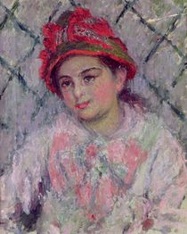 Portrait of Blanche Hoschede as a Young Girl von Claude Monet