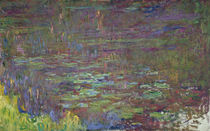 Waterlilies at Sunset, detail from the right hand side von Claude Monet