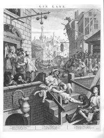 Gin Lane, 1751 von William Hogarth