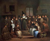 A Quakers Meeting von Egbert van the Elder Heemskerk