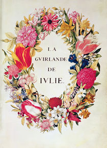 Frontispiece of 'La Guirlande de Julie' by Nicolas Robert