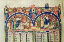 Ms 10 f.128v Canon of the Evangelists by French School