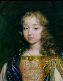 Portrait of Louis XIV as a child by French School