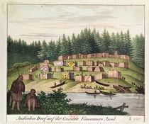 Indian Encampment on Quadra Island von German School