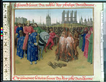 Ms Fr.6465 f.236 The Supplication of the Heretics in 1210 by Jean Fouquet