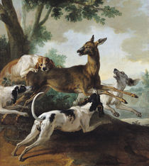 A Deer Chased by Dogs, 1725 von Jean-Baptiste Oudry