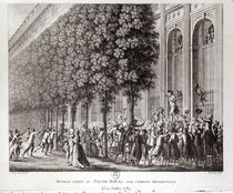 Camille Desmoulins Speaking at the Palais Royal von Jean Louis, II Prieur