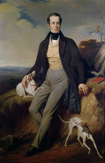 Portrait of Alphonse de Lamartine 1830 von Henri Decaisne